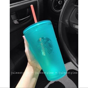 NEW Starbucks Frosted Teal Tumbler